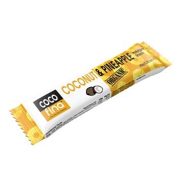 BATON 100% ORGANIC CU COCOS ȘI ANANAS 35 gr