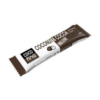 Baton Cocofina Vegan cu Cocos si Cacao, 40 gr