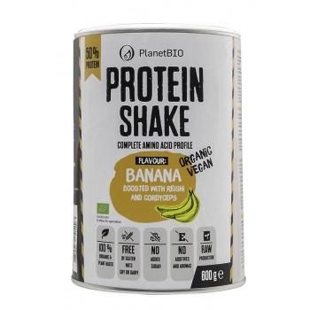 SHAKE PROTEIC ECOLOGIC VEGAN 52% Conținut De Proteine Îmbogățit cu Pulbere din Banane și Ciuperci Medicinale