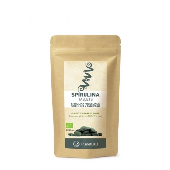 Spirulina 100% Organica, 180 tablete