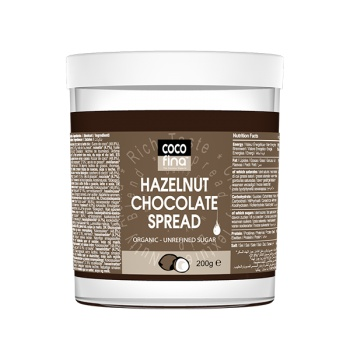 Crema de Ciocolata cu Alune de Padure, 100% Organica